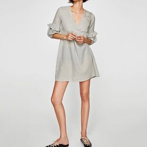 Zara Dress with Embellished Embroidery